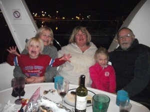 """Party aboard """"L'Albatross"""" with Vinnie, Sheila and Josea"""